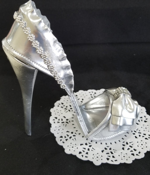 High Heels Cake Topper Shoes Cake Decoration Fancy Shoe Cake Topper in Pink, Red, Black, Silver - Cake Toppers Boutique