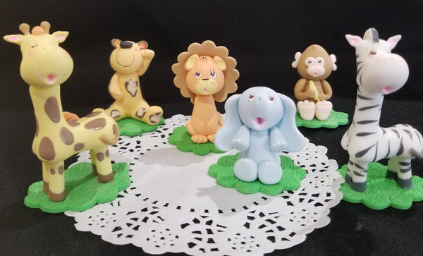 Wild Jungle Baby Shower, Jungle Animal Cake Decorations Safari Birthday Cake Decorations - Cake Toppers Boutique