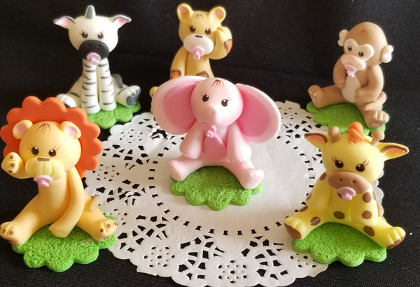 Cute Baby Animals Cake Toppers Jungle Party Baby Animals Cake Decorations - Cake Toppers Boutique
