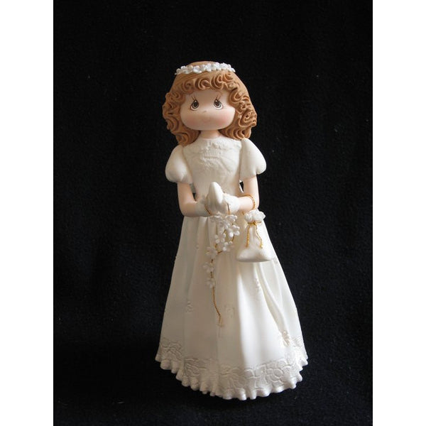 Boy or Girl First Communion or Baptism Cake Topper Childrens Dressed in White Gown Keepsake - Cake Toppers Boutique