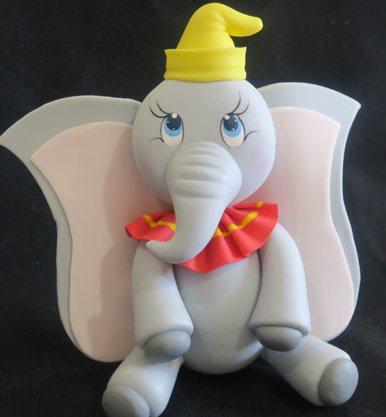 Elephant Cake Topper Elephant Cake Decoration Circus Elephant with Yellow Hat - Cake Toppers Boutique