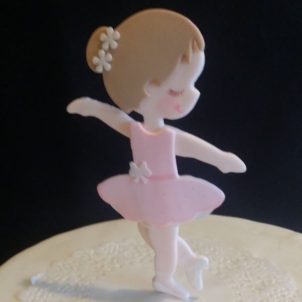 Ballerina Cake Toppers Ballerina Birthday Theme Pink Ballerina Centerpiece Decorations - Cake Toppers Boutique