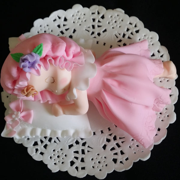 Baby Girl Cake Decoration Slepping Baby Cake Decoration Twins Babies for Cakes - Cake Toppers Boutique