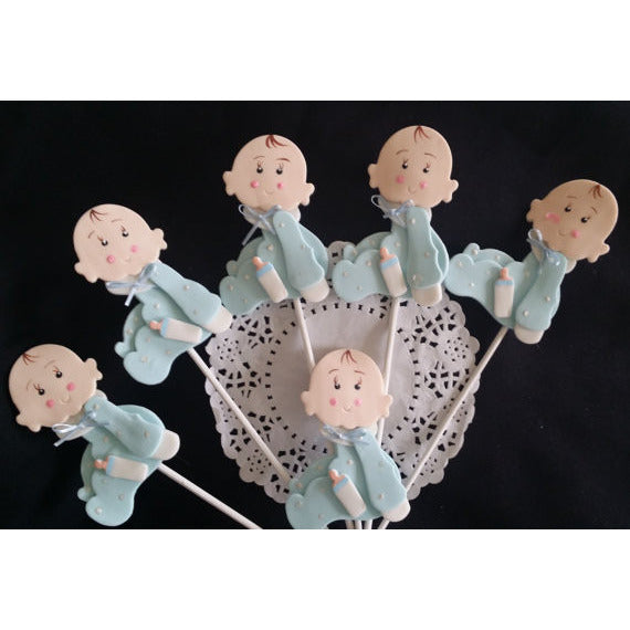 Baby Shower Centerpiece Picks Baby Shower Decoration Baby Girl or Boy Decorations 6pcs - Cake Toppers Boutique