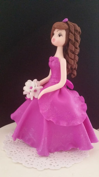 Teal Quinceañera Cake Topper Sweet Sixteen Cake Decorations Quinceañera Keepsake - Cake Toppers Boutique