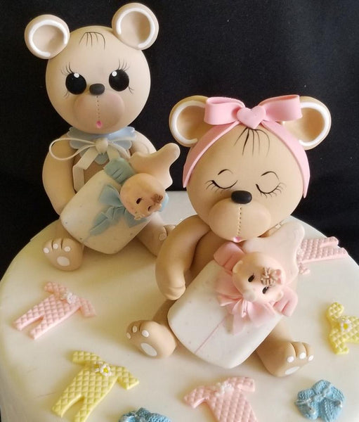 Bear Cake Topper Bear Cake Decorations Teddy Bear Cake Topper - Cake Toppers Boutique