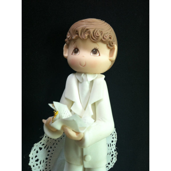 First Communion Cake Topper Holy Communion Cake Decorations Boy or Girl in White Communion Gown - Cake Toppers Boutique