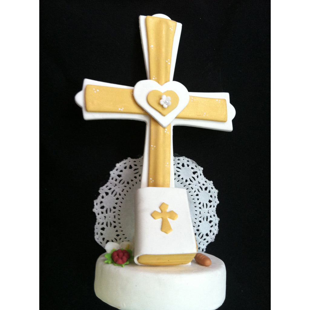 First Communion Cake Topper, Baptism Cake Topper, Communion Cross, First Communion Decoration, Baptism Cross Favor, Boy Baptism Cake Topper - Cake Toppers Boutique