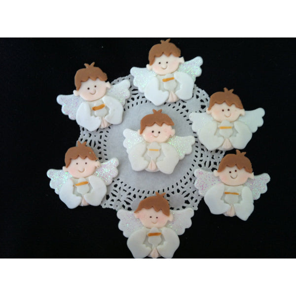 First Communion And Baptism Cupcake Toppers For Girls or Boys Baptism Angels - Cake Toppers Boutique