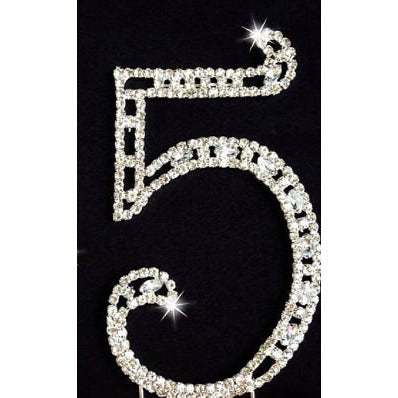 85th Birthday Cake Topper, 85th Rhinestone Cake Topper, 85th Cake Topper, 85th Anniversary Cake Topper, 85th Silver Cake Topper - Cake Toppers Boutique