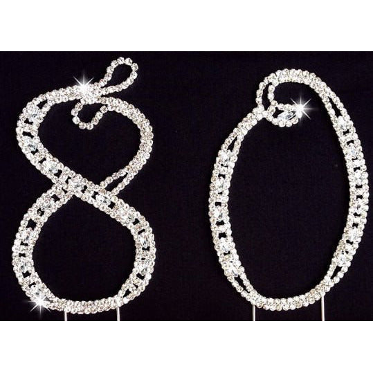80th Birthday Cake Topper 80th Rhinestone Cake Topper 80th Cake