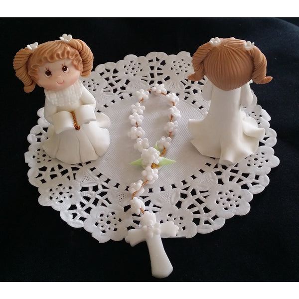 First Communion and Baptism Cake Topper Child and Rosary Cake Decorations and Keepsake - Cake Toppers Boutique