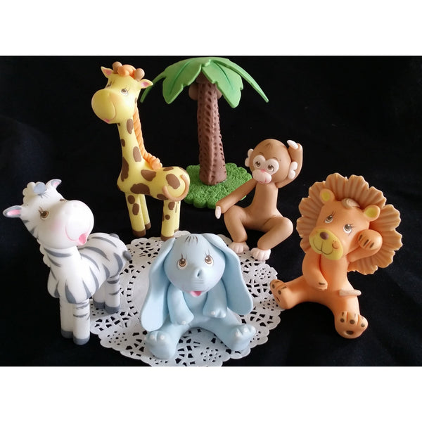 Jungle Animals Cake Decorations Zoo Birthday Party Cake Toppers Baby Shower Decor - Cake Toppers Boutique
