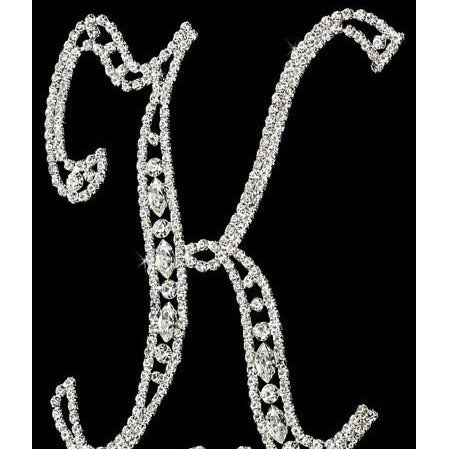 6'' Rhinestone Letter Topper, Birthday Cake Topper, Rhinestone Cake Topper, Silver Cake Topper, 6'' Silver Letter Cake Topper, Cake Decorations - Cake Toppers Boutique