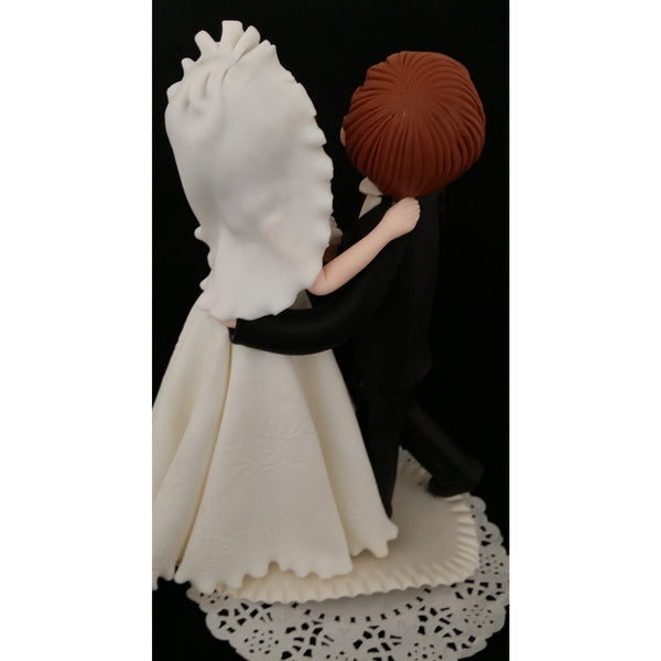 Wedding Cake Topper, Bride Groom Dancing Cake Topper, Funny Wedding Cake Topper - Cake Toppers Boutique