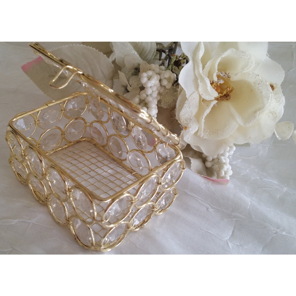 Wedding Favors, Crystal Bling Bling Favors Box, Gold Wedding Decoration, Crystal Wedding Decorations, Silver Wedding Favors, Gold Weddings - Cake Toppers Boutique