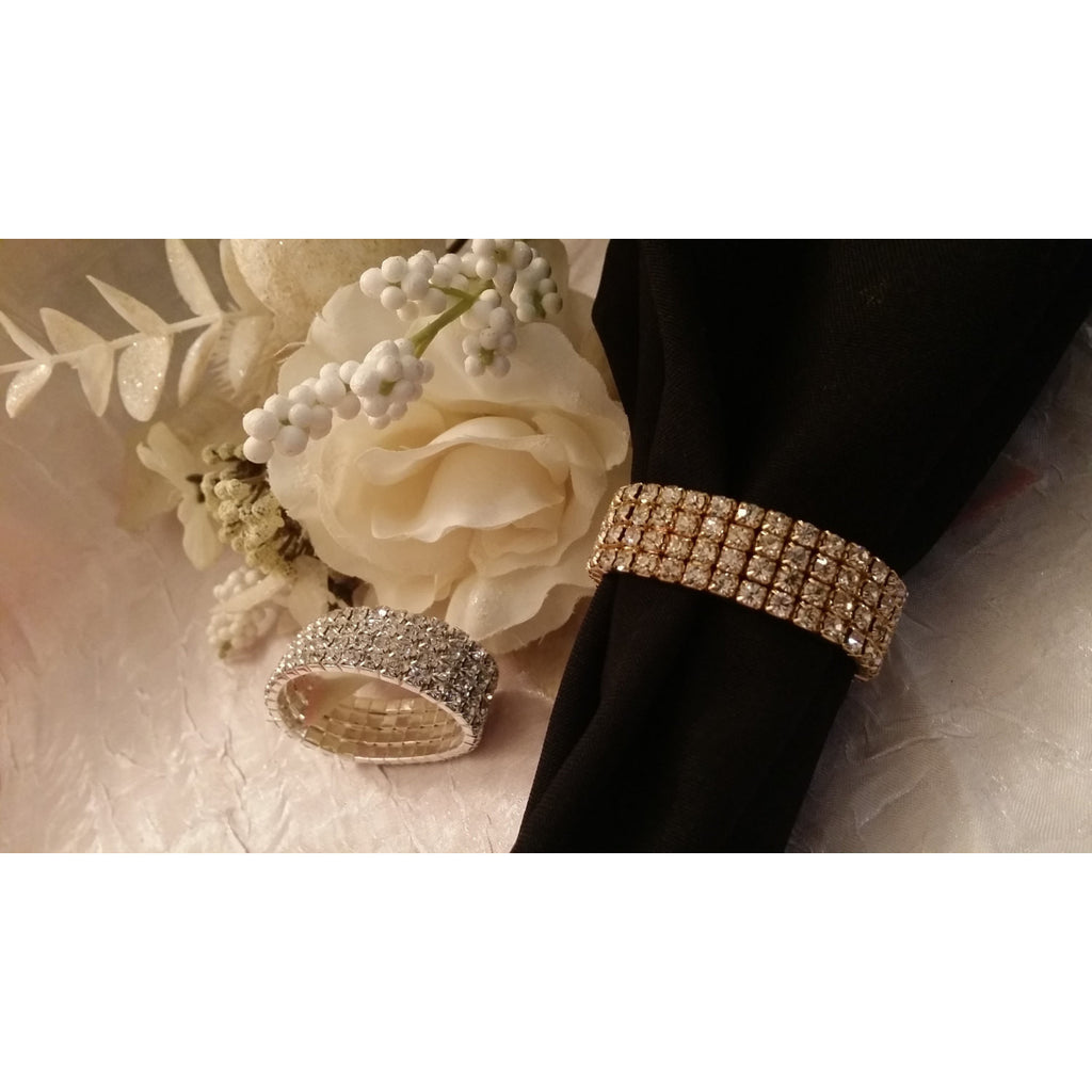 Gold napkin ring table decorations wedding accessories for Wedding decoration accessories