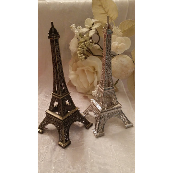 Eiffel Tower Cake Decoration Party Decorations Tower in Silver Gold and Black - C T B