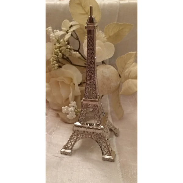 Eiffel Tower Cake Decoration Party Decorations Tower in Silver Gold and Black - Cake Toppers Boutique
