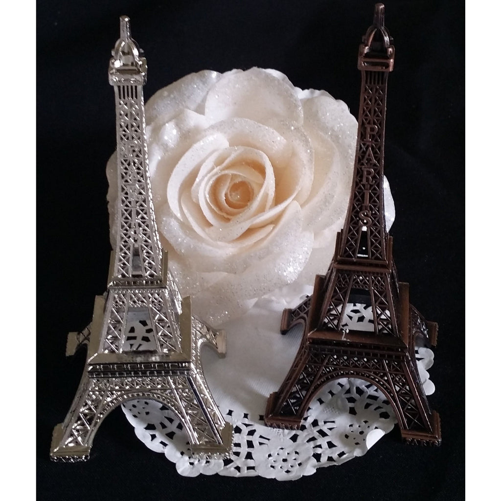 Eiffel Tower Wedding Cake Topper, Antique Wedding Favor, Paris Wedding Decoration, Eiffel Tower Baby Shower, Eiffel Party Theme Decoration - Cake Toppers Boutique
