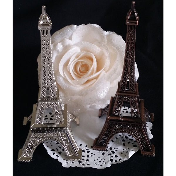 Eiffel Tower Baby Shower Cake Topper Eiffel Party Theme Decoration Silver Gold Black - Cake Toppers Boutique