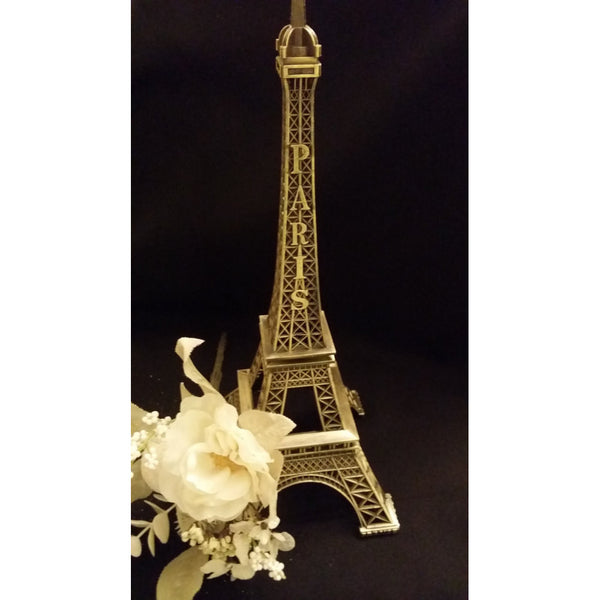 Eiffel Tower C ake Topper 13'' Tall Paris Theme Centerpieces Gold Silver Black Eiffel Tower - Cake Toppers Boutique