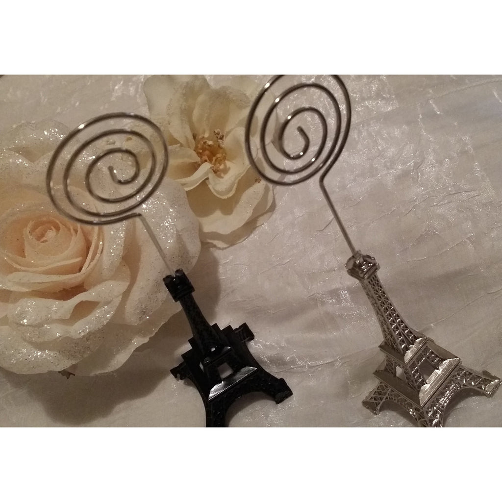 Eiffel Tower Table Number Holder Eiffel Tower Card Holder Guess Table  Decorations   Cake Toppers Boutique