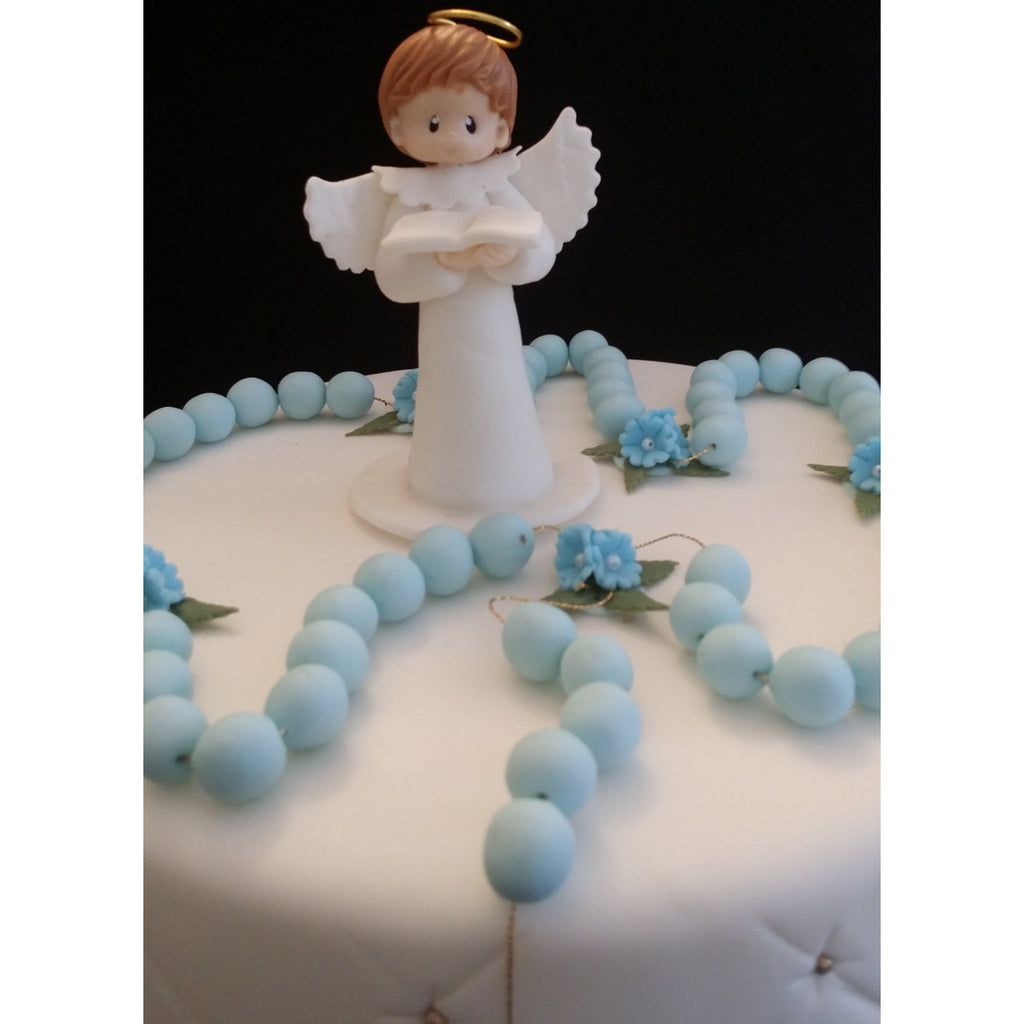 First Communion Boy, Baptism Angel Topper, Rosary Cake ...