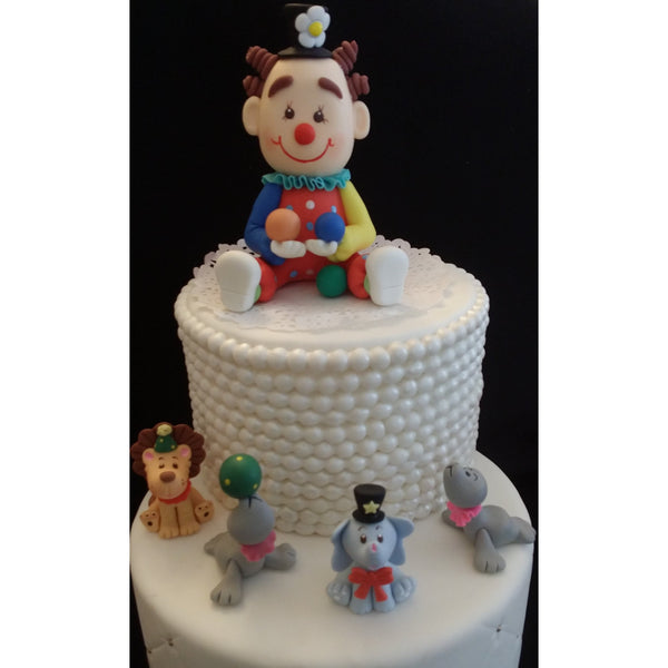 Circus Birthday Cake Toppers Carnival Party Decorations Circus Clown and Animals 5pcs - Cake Toppers Boutique