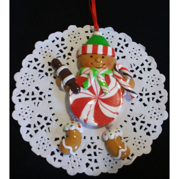 Christmas Ornament, Ginger Cookie For Tree, Ginger Cookie Ornament, Xmas Ornament, Snowman Ornament, Christmas Candy Ornament, Tree Ornament - Cake Toppers Boutique