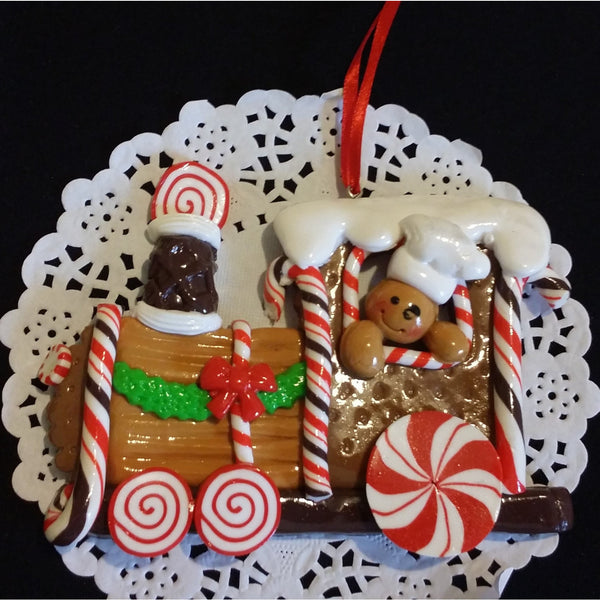 Christmas Train Ornament Gingerbread Train Christmas Decorations - Cake Toppers Boutique