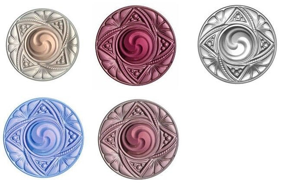 Choice VICTORIAN JEWEL Focal Stained Glass Clear Pink Peach Blue Amethyst 40mm