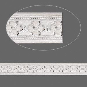 Wire Bezel Sterling Silver Floral Rectangle 6x1mm 18GA Silversmithing 1 ft long