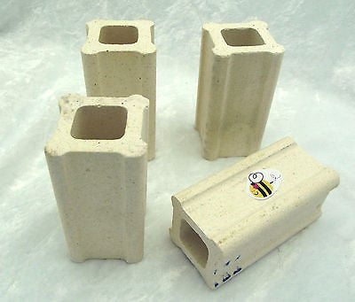 "Quality Kiln Posts 1-1/2 inches wide by 3"" Tall Set of FOUR Fusing Furniture"