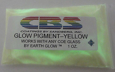 CBS Glow Powder Pigment YELLOW works with any COE 90 96 One Ounce Package