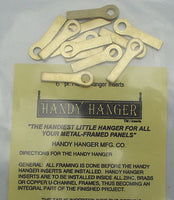 Brass Handy Hangers for Stained Glass Panels Pack of 12 six pairs Hardware