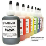 GLASSLINE PENS 2 oz Bottle Glass Paint Glass Line Material Fusing