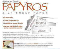 FIVE Sheets PAPYROS SHELF PAPER 20.5 x 20.5 Inches Square  Primer Kiln Glass Sep