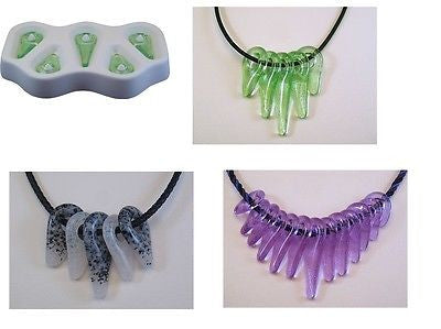 Awesome! TRIBAL BEADS Colour De Verre Glass Frit  Casting Mold Fusing Supplies
