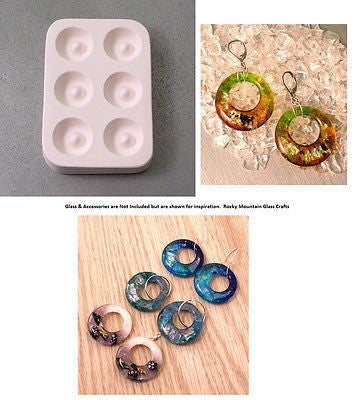 New! Little Fritters HOLEY HOOPS 101 Quality Ceramic Glass Casting Mold USA Made