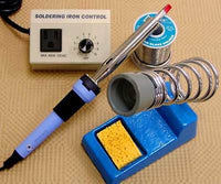 $100+ Value! SOLDERING KIT Includes IRON Rheostat STAND Solder Studio Quality!