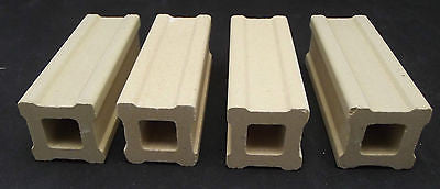 Set of FOUR Kiln Posts 4 X 1 in  Fusing Furniture Supplies Durable Ceramic