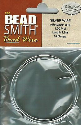 14 Gauge 1.8meter BEADSMITH German Silver Wire With Copper Core Beading Wrapping