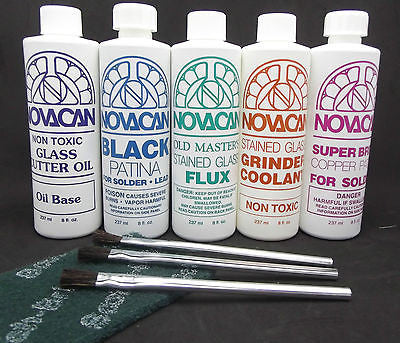 NOVACAN CHEMICAL VALUE PACK Black Copper Patina for Lead Flux Coolant Cutter Oil