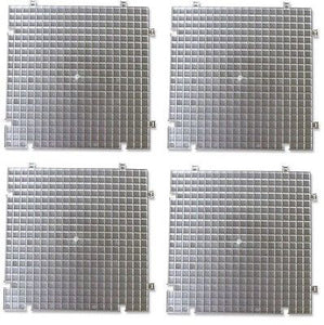 WAFFLE GRID 4 PACK  Surface Use ALONE or/w  Cutter's Mate Portable Glass Shop