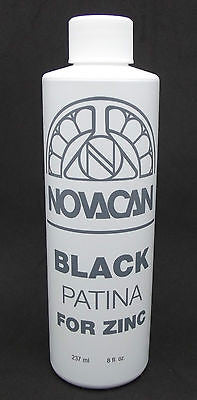 Novacan PATINA BLACK ZINC Framing Came Stained Glass Full Size 8 Ounce Container