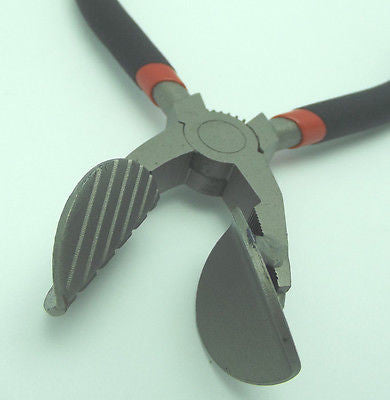 ANGLED LEAF MASHER with Veins Lampworking Hot Glass Blowing Tools Pliers TR-050