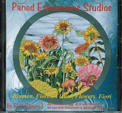Paned Expressions IN FULL BLOOM  1 Pattern CD FLOWERS!