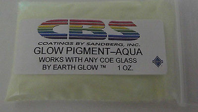 CBS Glow Powder Pigment AQUA works with any COE 90 96 One Ounce Package