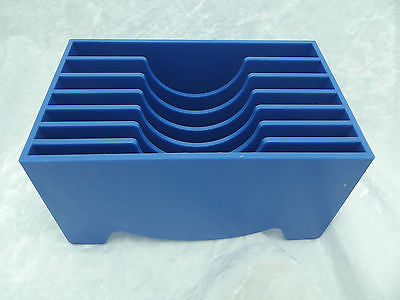 BLUE COPPER FOIL DISPENSER for Stained Glass Seven Slots Hold Supplies